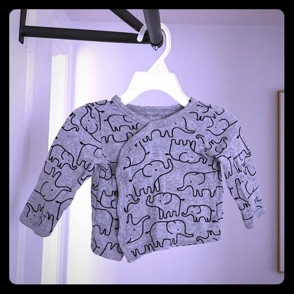 Carter's snap elephant shirt